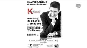 Klavierabend mit Tobias Kaltenbrunner in Waldhausen