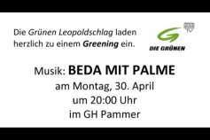 """Ankündigung """"Greening"""" im Gasthau Pammer"""