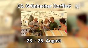 Ankündigung Grünbacher Dorffest