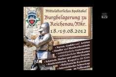 Ankündigung Mittelalterfest in Reichenau von 18.-19. August 2012