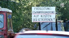 Demo gegen die 110kv Freileitung durchs Mühlviertel