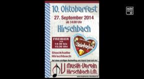 Ankündigung 10. Oktoberfest Hirschbach