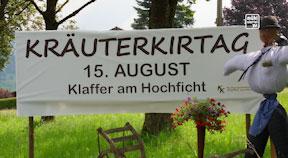 Ankündigung Kräuterkirtag in Klaffer