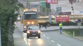Sondertransport Brüder Resch - Panoramabrücke