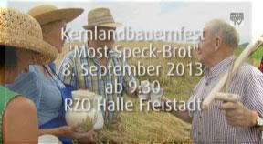 """Ankündigung Kernlandbauernfest """"Most-Speck-Brot"""""""