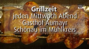 Ankündigung Grillabende im Gasthaus Aumayr