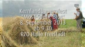 Ankündigung Kernlandbauernfest am 8. September in Freistadt
