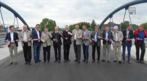 """Verkehrsfreigabe Aistbrücke in Sebern/Gemeinde Naarn im Rahmen des Hochwasserschutzprojektes """"Aist"""""""