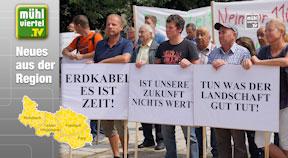 Demo gegen 110 kv-Leitung durchs Mühlviertel in Linz