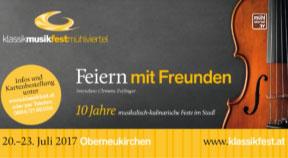 Ankündigung: Klassik Musikfest Mühlviertel im Schnopfhagenstadel in Oberneukirchen