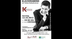 Ankündigung Klavierkonzert Tobias Kaltenbrunner in Bad Zell