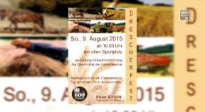 Ankündigung Drescherfest in St. Oswald bei Freistadt