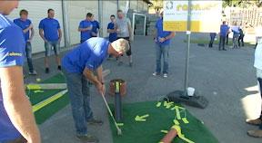 Mitarbeiter Olympiade bei Rabmer in Altenberg