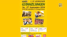 Ankündigung St. Georgener Gstanzlsingen