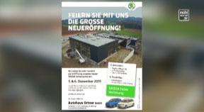 Ankündigung Eröffnung Autohaus Ortner in Wartberg ob der Aist