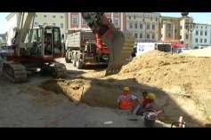 Umbauarbeiten am Freistädter Hauptplatz