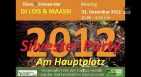 Ankündigung Silvesterparty Bad Leonfelden 2012