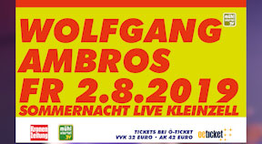 Ankündigung Wolfgang Ambros in Kleinzell