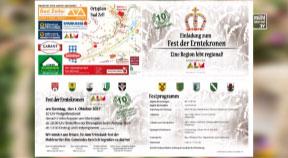Ankündigung Erntedankfest Mühlviertler Alm am 1.10.2017 in Bad Zell