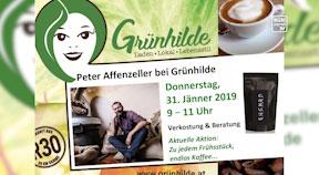 Ankündigung Kaffeeverkostung Grünhilde am 31.1.2019