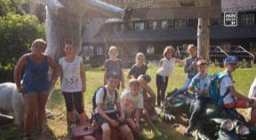 Lichtenberger Kinder beim Bogenschießen