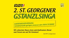 Ankündigung G'stanzlsingen in St. Georgen an der Gusen