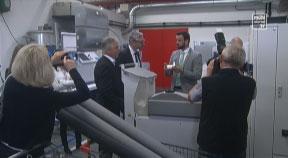 Betriebsbesuch bei Röchling Leripa Papertech mit LR Strugl