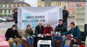"""SJ-Kampagne """"Junges Wohnen muss leistbar sein!"""""""