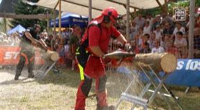 Holzhackerwettbewerb in Karlstift 2017