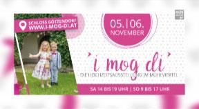 """Ankündigung Hochzeitsausstellung """"I mog di"""" im Schloss Götzendorf – Bezirk Rohrbach"""