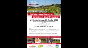 Ankündigung Familienwandertag in Vorderweißenbach