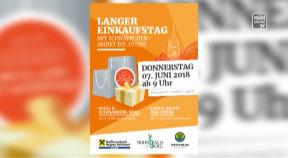 Ankündigung Langer Einkaufstag, Seidl & Schmankerlroaß in Rohrbach-Berg 2018