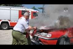 Bei einem Fahrzeugbrand entscheiden oft wenige Sekunden