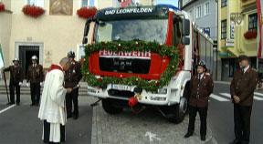 Neuer Tanklöschwagen für die FF Bad Leonfelden