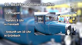 Ankündigung Bezirksoldtimertreffen Freistadt