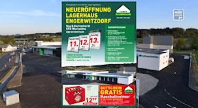 Ankündigung Eröffnung Lagerhaus in Engerwitzdorf