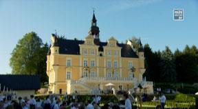 Auftakt Mühlviertlerisch Tafeln beim Schloss Tannbach in Gutau