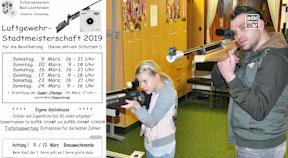 Ankündigung Stadtmeisterschaften im Luftgewehrschießen in Bad Leonfelden