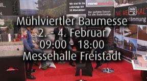 Ankündigung Mühlviertler Baumesse in der Messehalle Freistadt 2018