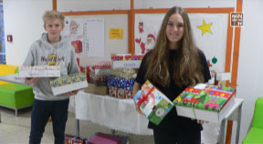 Weihnachten kann kommen – Schuhschachtelaktion der NMS Freistadt