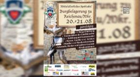 Ankündigung Ritterfest in Reichenau 20.-21.8.2016