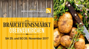Ankündigung Brauchtumsmarkt in Oberneukirchen