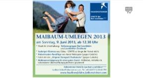 Ankündigung: Maibaum-Umlegen beim Falkensteiner Hotel Bad Leonfelden