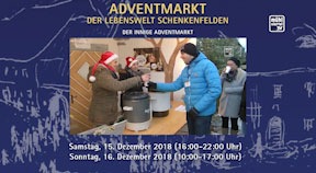 Ankündigung Adventmarkt der Lebenswelt Schenkenfelden 2018