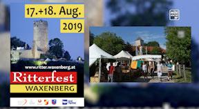 Ankündigung Ritterfest in Waxenberg